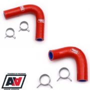Subaru Impreza Water Pump Hoses P1 WRX STi All Years RCM Samco Red